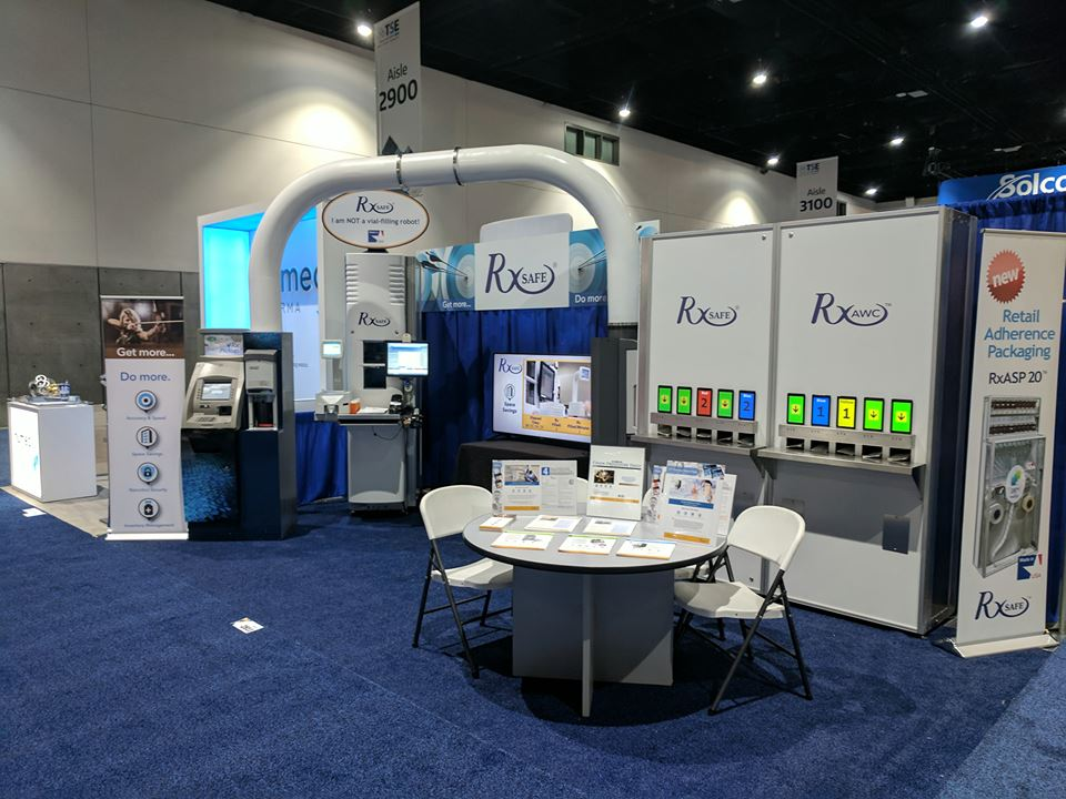 RxSafe's booth at the TSE in San Diego
